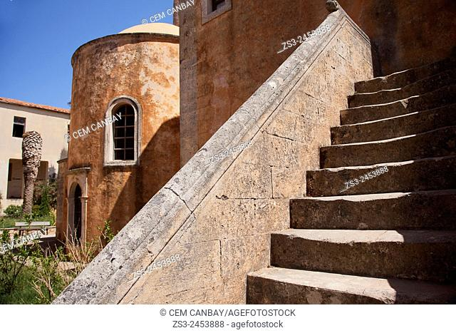 Detail of the Agia Triada Monastery, Akrotiri Peninsula, Crete, Greek Islands, Greece, Europe