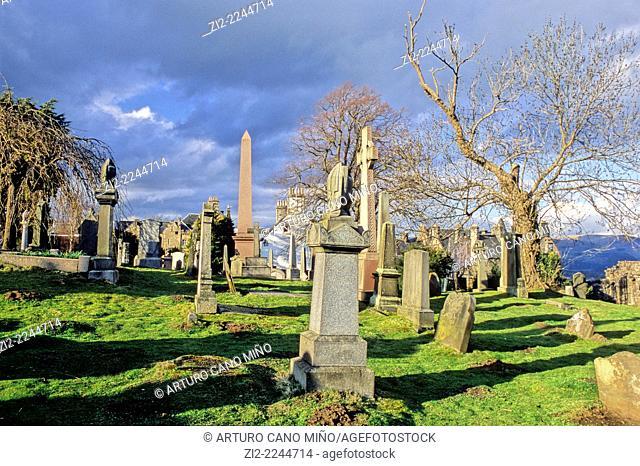 Cemetery. Stirling, Scotland, United Kingdom