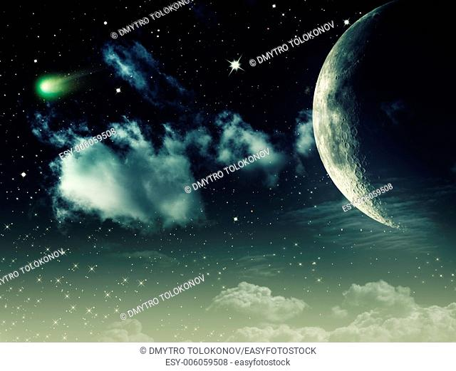 Night skies, abstract environmental background