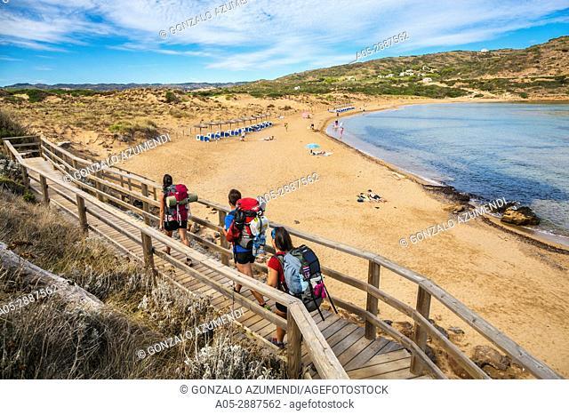 Cala Tirant Beach, next to Fornells. Es Mercadal Municipality. Minorca Island. Balearic Islands. Spain