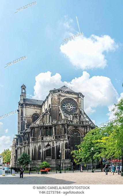 Church of Sainte-Catherine in neo-Renaissance style, Place Sainte-Catherine, Brussels, Belgium