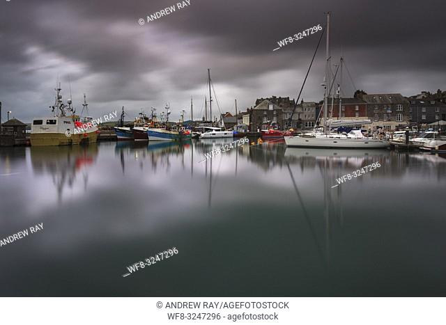 Padstow Harbour captured on an overcast morning in early September