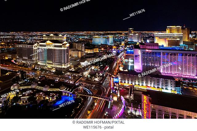 Las Vegas night, Nevada, USA