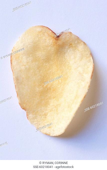 Heart-shaped crisp