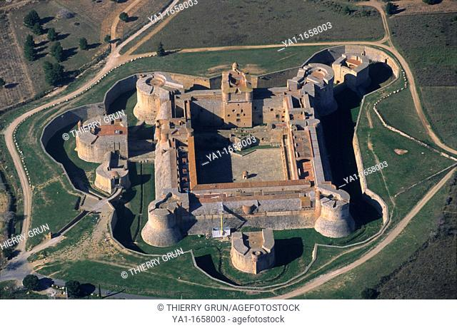 Salses fortress, Salses-le-Château, Eastern Pyrenees, Languedoc-Roussillon region, France