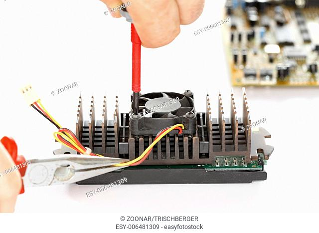 fixing an electric component