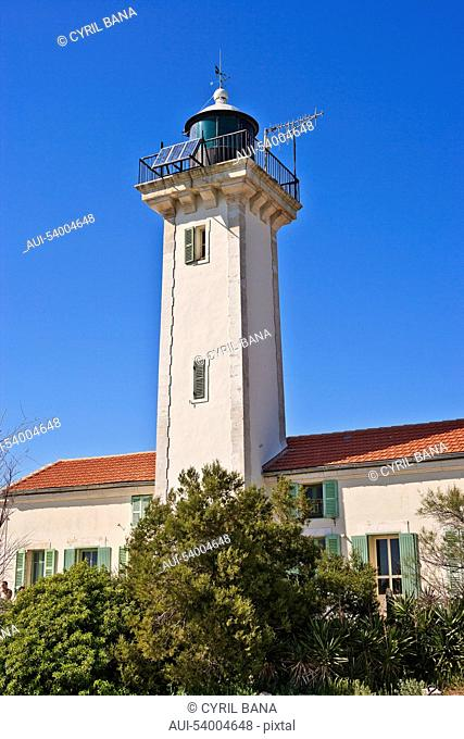France, Camarque, Saintes-Maries-de-la-Mer, tower
