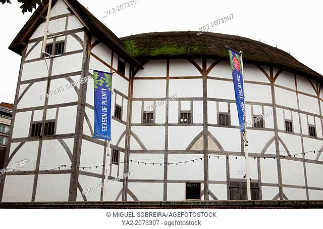 The Globe Theater on London's Bankside - London UK
