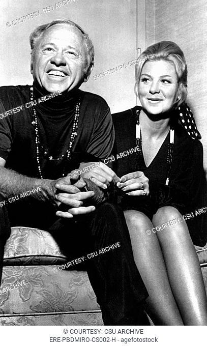 Mickey Rooney, with 7th wife, Carolyn Hockett, 1969