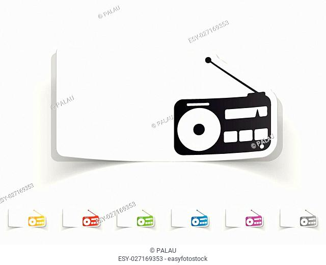 realistic design element. radio