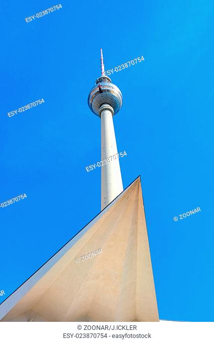 The famous TV Tower at Alexeanderplatz in Berlin