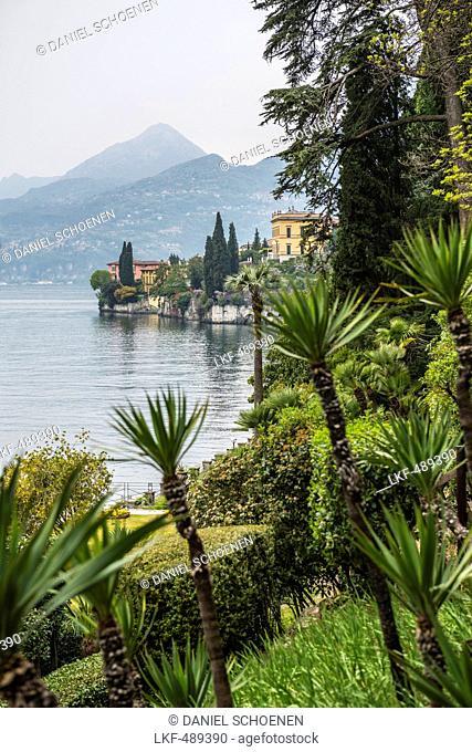Villa Monastero gardens, Varenna, Lake Como, Lago di Como, Province of Lecco, Lombardy, Italy