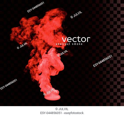 Vector illustration of smoke. Isolated transparent special effect