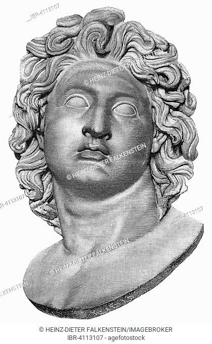 Alexander the Great or Alexander III. of Macedonia, historical illustration