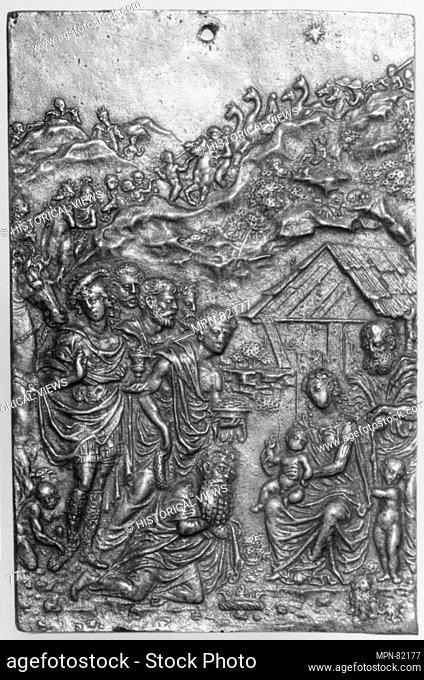 Adoration of the Magi. Maker: Moderno (Galeazzo Mondella) (Italian, Verona 1467-1528 Verona); Date: early 16th century; Culture: Italian; Medium: Bronze;...
