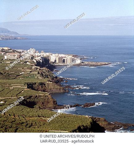 Urlaub auf Teneriffa, Kanarische Inseln 1975. vacation on the island of Tenerife, Canary Islands 1975