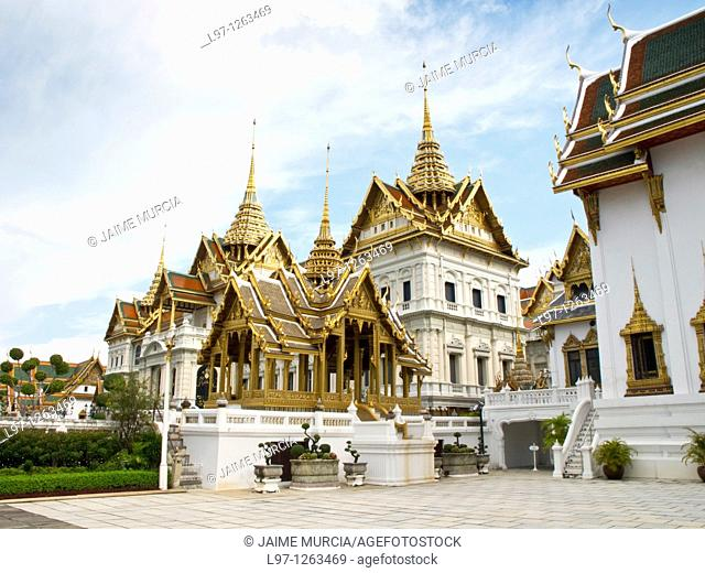 The Chakri Maha Prasat, at the Grand Palace complex Bangkok Thailand