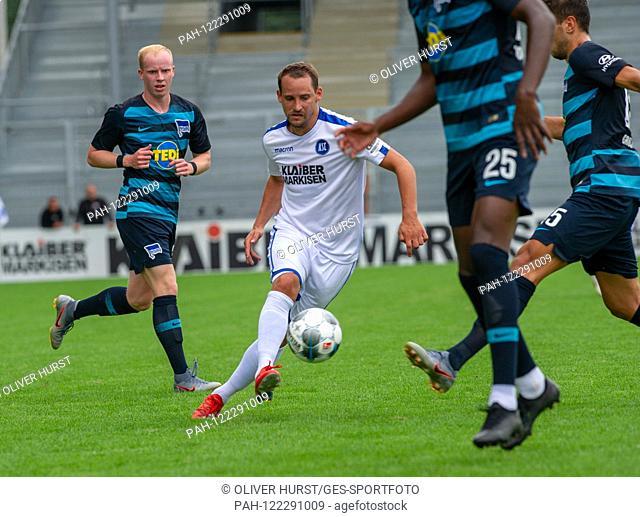 Anton Fink (KSC). GES / football / KSC blitz tournament: Karlsruher SC - Hertha BSC Berlin, 13.07.2019 Football / Soccer: Short time Tournament: Karlsruhe vs...