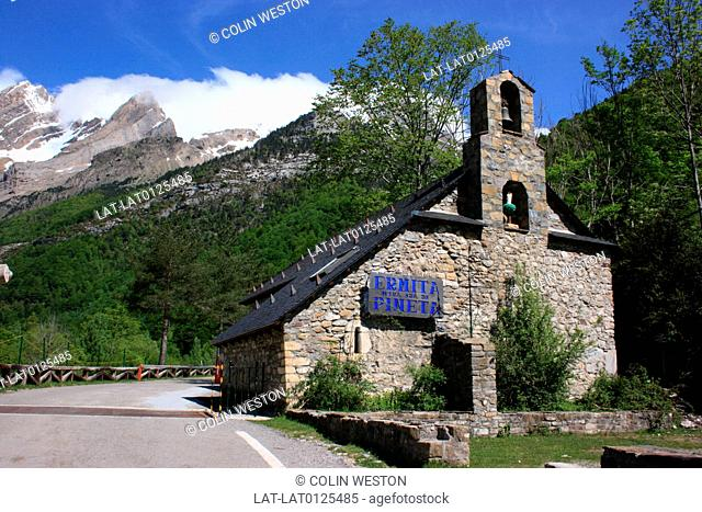 The Ermita Pineta in the Valle de Pineta is a historic church,and the valle is part of the Mont Perdido national park