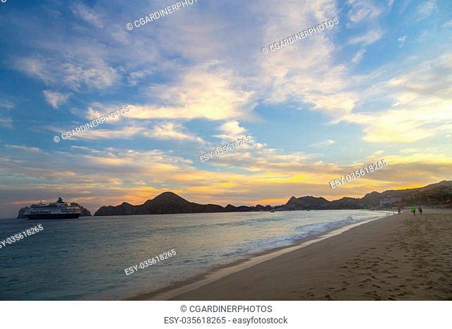 The Pacific Ocean in Cabo San Lucas Mexico
