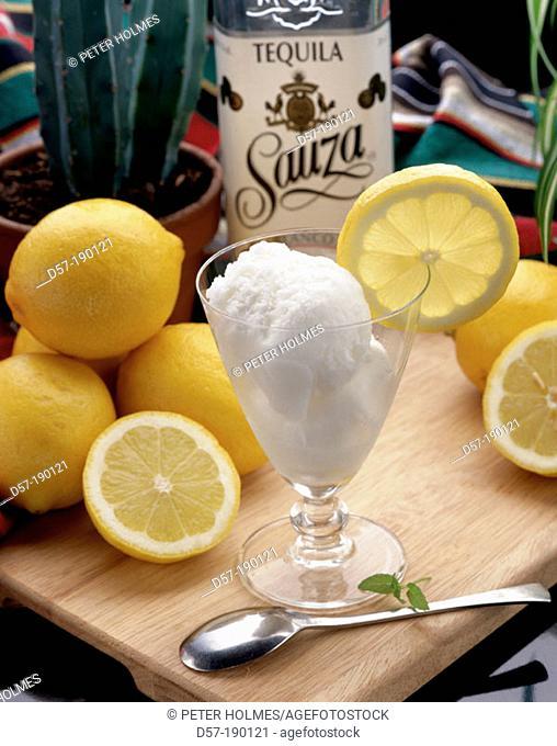 Ice cream of tequila