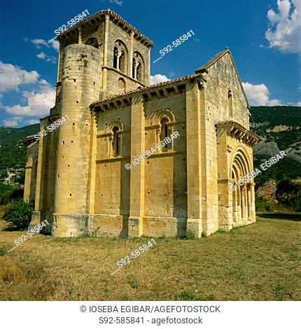 San Pedro de la Tejada. Valdivieso Valley. Burgos. Spain