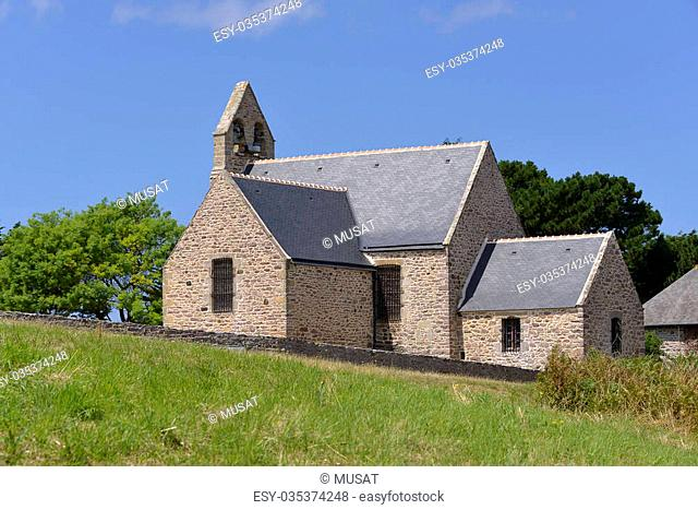 Church of Pleherel, a commune near of peninsula of Cap Frehel in the Cotes of Armor department of Brittany in northwestern France