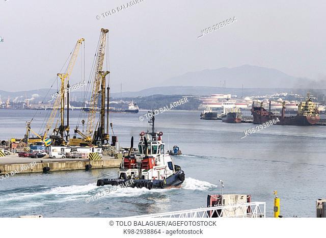 Cargo containers, Port of Bahía de Algeciras,Andalucia, Spain