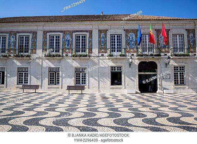 Town Hall, Main square in the old town, 5th October Square, Cascais, Lisbon, Portugal