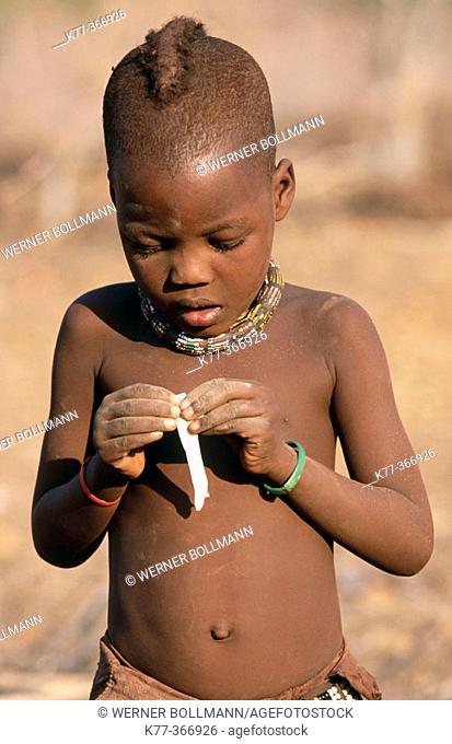 Himba boy. Kaokoveld. Namibia