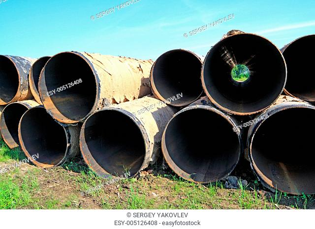old gas pipes on herb