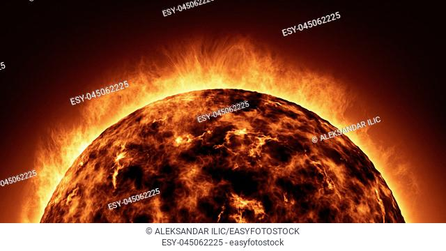 The Sun animation closeup