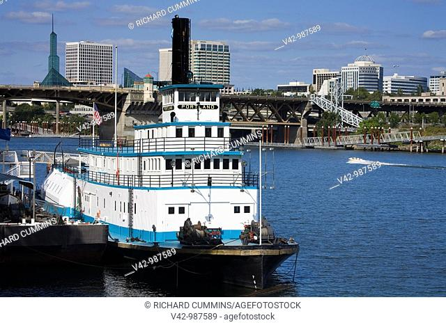Maritime Museum on the Willamette river in Waterfront Park, Portland,Oregon,USA