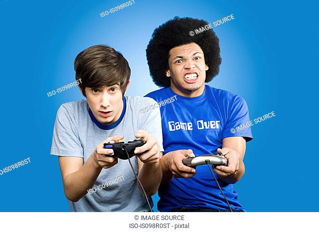 Friends playing a video game