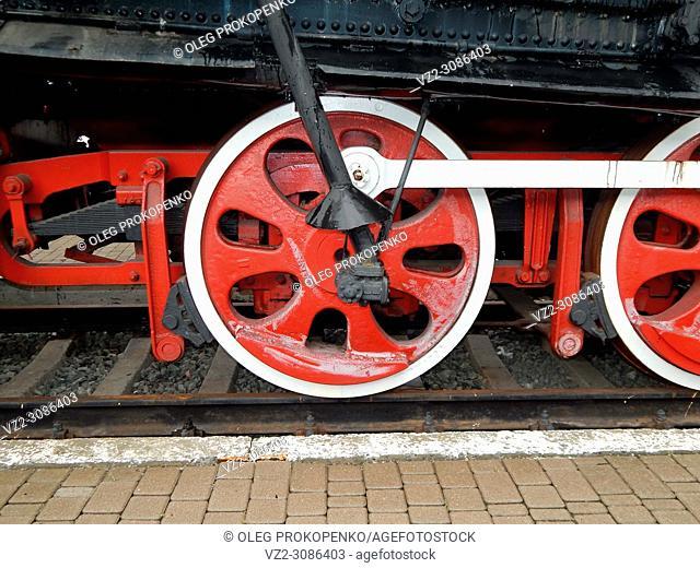 Railway transport details of locomotive, wagon