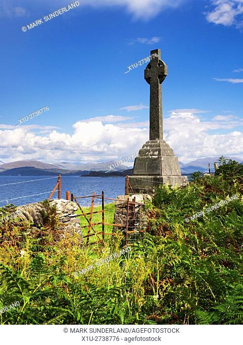Celtic Cross Memorial to Waverley Arthur Cameron Isle of Lismore Argyll and Bute Scotland