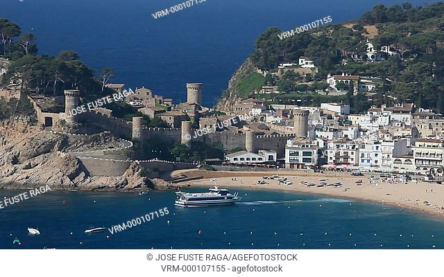 Spain , Catalunya Region,Girona Province,Costa Brava, Tossa de Mar City