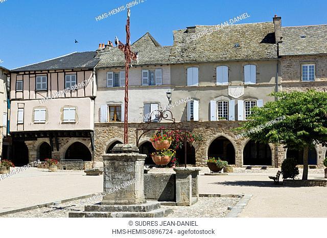 France, Aveyron, Sauveterre de Rouergue, labelled Les Plus Beaux Villages de France (The Most Beautiful Villages of France)