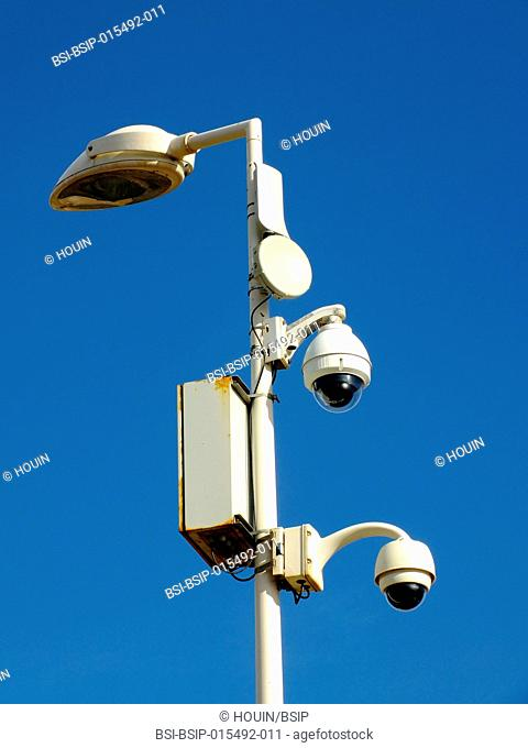 CCTV in a city