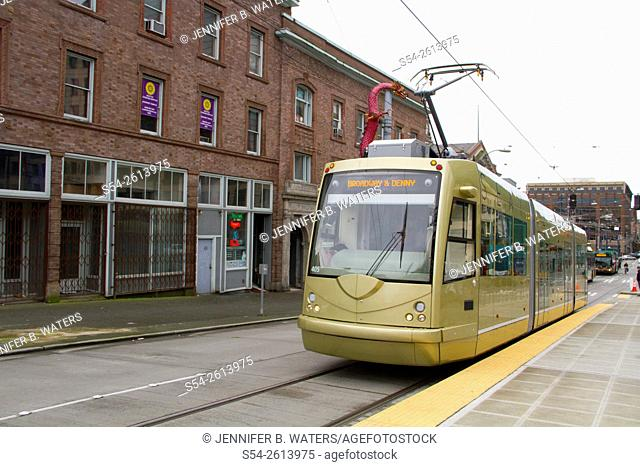 The First Hill streetcar in Seattle, Washington, USA