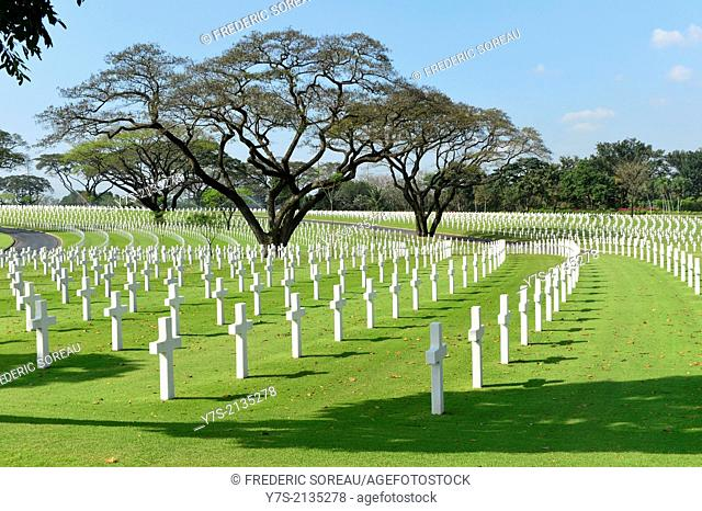 The Manila American Cemetary and Memorial located in Fort Bonifacio,Taguid City,in Philippines,South East Asia