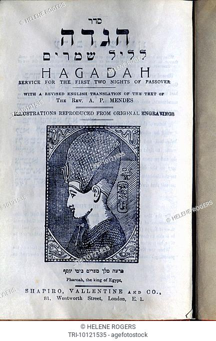Hagadah Service For Passover Pharoah Cover Circa 1920