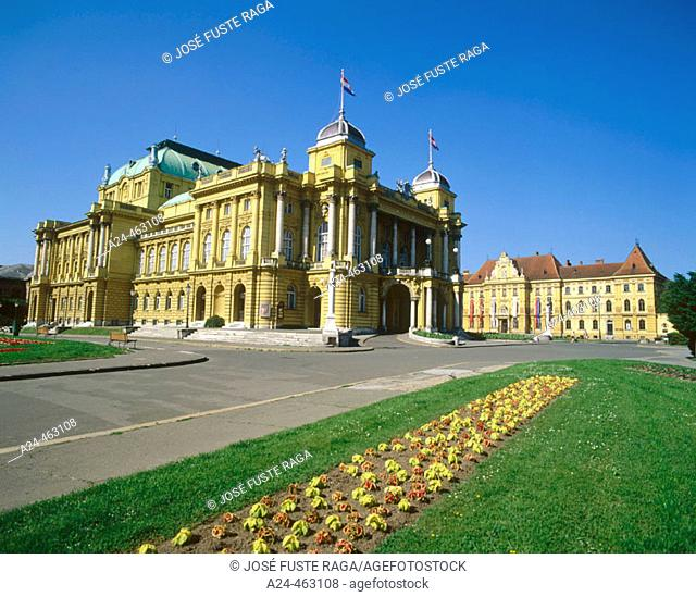 Croatian National Theatre and Arts and Crafts Museum, Zagreb. Croatia
