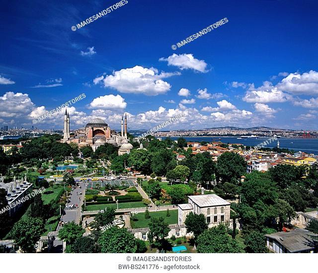 Hagia Sophia and Bosphorus, Turkey, Istanbul