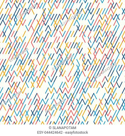 Abstract geometric background. Abstract technology pattern with colorful geometric shapes in tessellation. Linear abstract lattice, random coloring