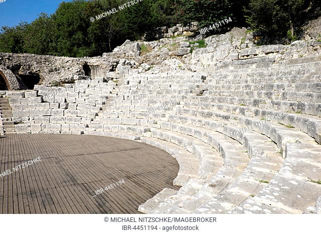 Roman theatre, amphitheatre, ancient city of Butrint, region Vlora, Albania