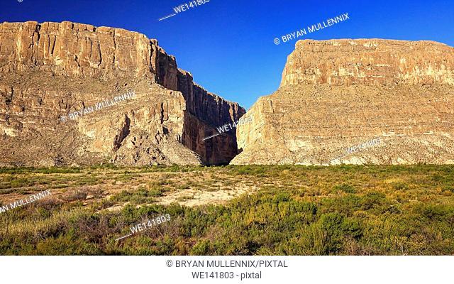 Cliffs of Santa Elena Canyon in Big Bend National Park, Texas