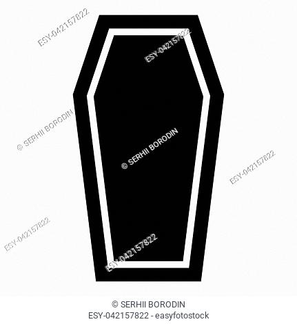 Coffin Insurance concept Funeral subject Lid coffin icon black color vector illustration flat style simple image