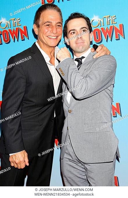 Opening night of Broadway's On The Town at the Lyric Theatre - Arrivals. Featuring: Tony Danza,Rob McClure Where: New York, New York