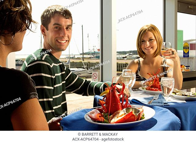 Couple dining, Boat Shop steak & Seafood Restaurant Alberton, Prince Edward Island, Canada